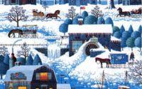Servetel Peisaj de iarna