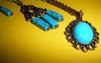 Set colier si cercei Copper Turquoise