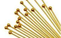 10 Ace cu bila aurii 25 x 0.2 mm