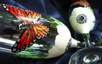pahare pentru miri fluturi si anemone