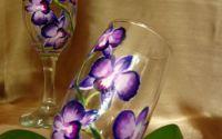 pahare pentru miri orhidee mov