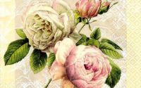 Servetel trandafiri delicati