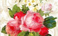 Servetel Buchet trandafiri