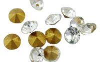 10buc Strasuri conice de sticla Rhinestone 2mm