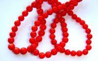 10 Sfere coral rosu 4 mm