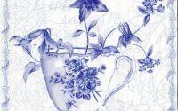 Servetel cescute cu flori bleu