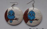 Cercei vrabiute albastre