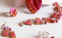 "Set bijuterii handmade ""Romantic Pink"""