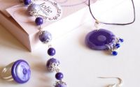 "Set bijuterii handmade ""Romantic Purple"""