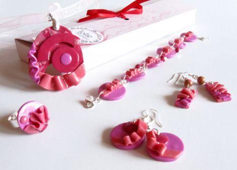 Set bijuterii handmade Sweet Pink