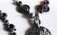 "Set bijuterii handmade ""Elegant Grey"""