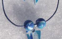 Blue Winter- colier si cercei