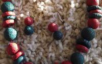 Christmas Colours- set colier si cercei