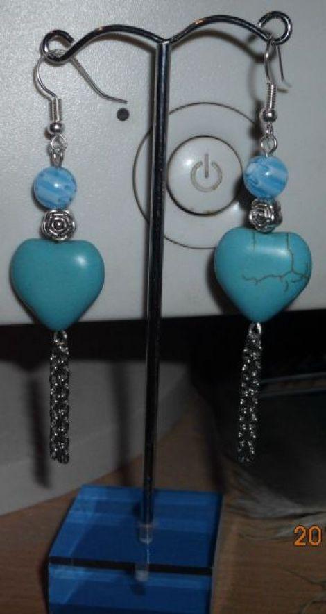 Cercei Inima Turquoise