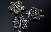 Link fluture argint tibetan 17 mm
