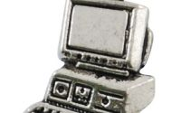 Charm computer argintiu antichizat