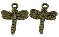 Charm libelula bronz antichizat