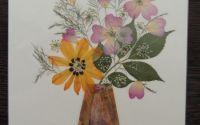 Tablou flori presate.