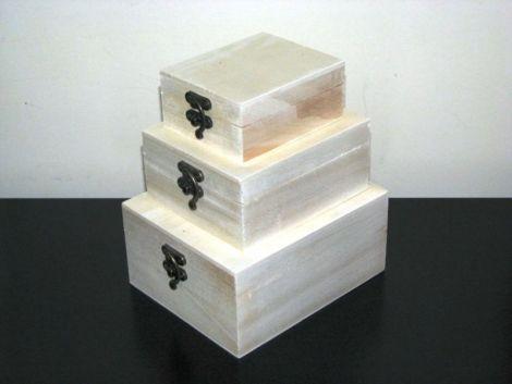 Set 3 cutii lemn natur model 6
