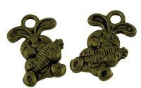 Charm iepuras bronz antichizat