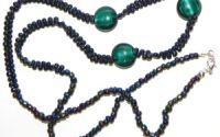 Colier de margele miyuki toho i banuti smarald