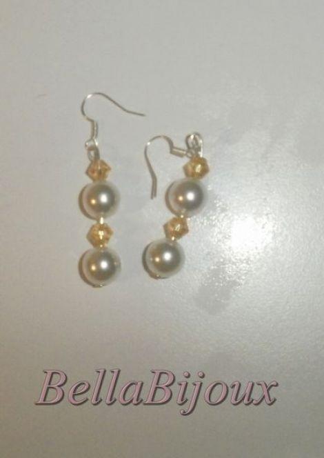 Perle cu cristal swarovski galben