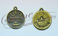 Charm zodia Balanta bronz antichizat