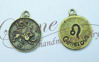 Charm zodia Leu bronz antichizat