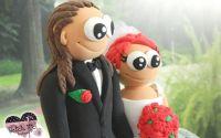 Figurine de tort amuzante Mire si Mireasa