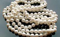 10 Sfere perle albe 8 mm