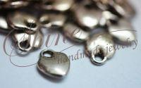 Charm inimioara argintiu antichizat