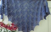 Sal dantelat nou tricotat manual lana merinos