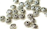 Distantiere rotunde argint tibetan 6 x 3 mm
