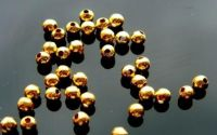 50 Crimpuri rotunde placate cu aur 2.5 mm