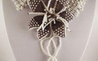 Colier Guler cu brosa floare
