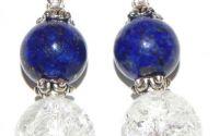 Cercei de lapis lazuli si cristale de stanca