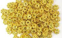 10 Distantiere margareta 4 mm aurii