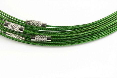 Baza colier otel acoperit cu nylon 45 cm verde