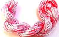 28 metri Snur ata nylon 1 mm roz Shamballa