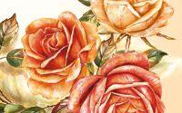Servetel Trei trandafiri