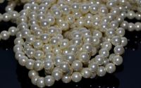 10 Sfere perle ivoire 8 mm