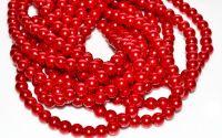 10 Perle rosii 6 mm